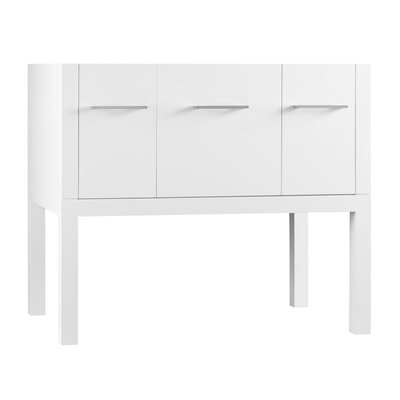 Calabria 36 Bathroom Vanity Base Cabinet in White