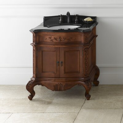 Vintage Bordeaux 32 Single Bathroom Vanity Set