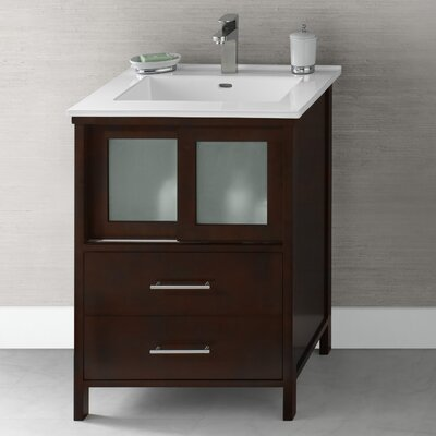 "Minerva 23"" Bathroom Vanity Base Cabinet in Dark Cherry"