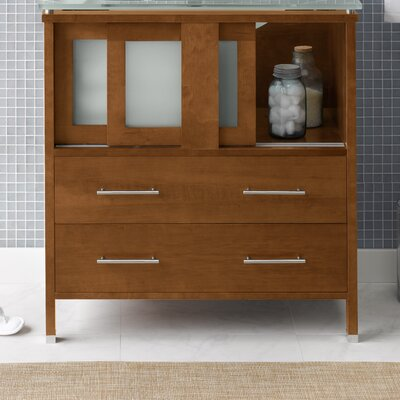Minerva 31 Single Bathroom Vanity Base Base Finish: Dark Cherry