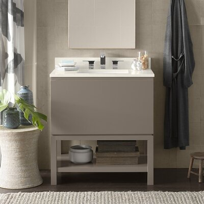 Jenna 31 Bathroom Vanity Base Cabinet in Blush Taupe