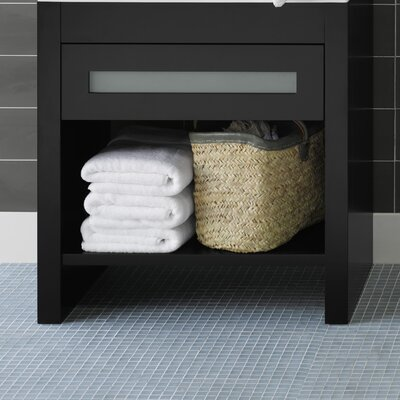 Kendra 31 Single Bathroom Vanity Base Finish: Black