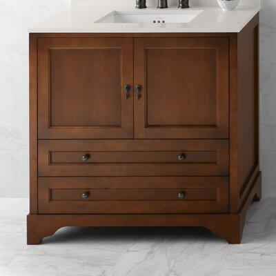 Milano 36 Bathroom Vanity Cabinet Base in Colonial Cherry