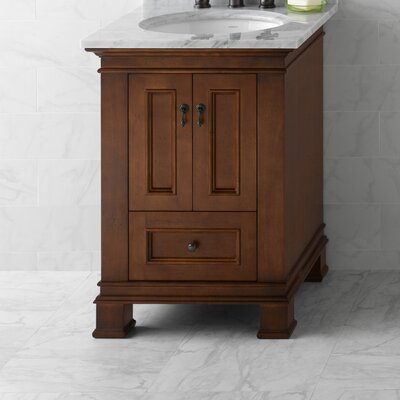 Venice 24 Bathroom Vanity Cabinet Base in Colonial Cherry