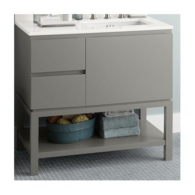 Chloe 36 Single Bathroom Vanity Base Base Finish: Glossy White