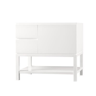 Contempo Chloe Wood Cabinet Vanity Glossy White Base
