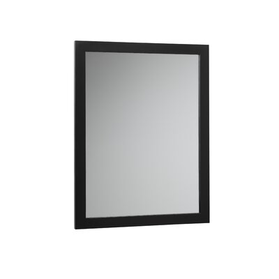 Contemporary Solid Wood Framed Bathroom Mirror in Antique Black