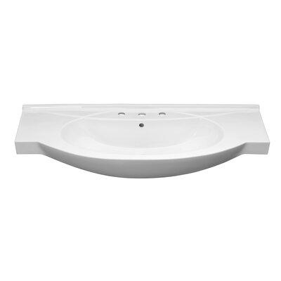Adara Ceramic Rectangular Vessel Bathroom Sink with Overflow