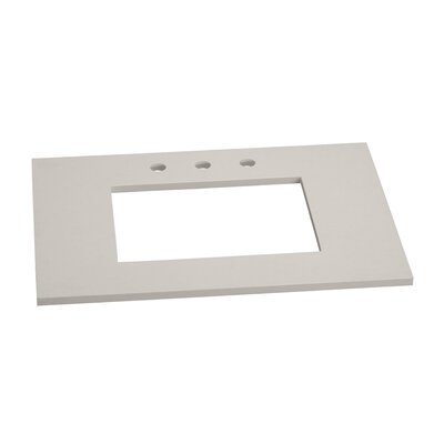 Single Undermount Sink 31 Single Bathroom Vanity Top Top Finish: Wide White, Faucet Mount: 8 Widespread