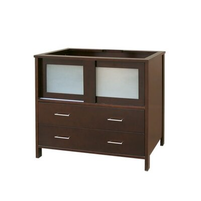 Contempo Minerva Dark Cherry Vanity Base