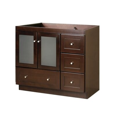 Shaker 30 Single Bathroom Vanity Base Base Finish: Dark Cherry, Orientation: Left