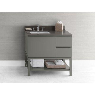 Contempo Chloe Wood Cabinet Vanity Slate Gray Base