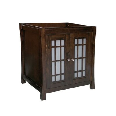 Shoji 30 Bathroom Vanity Cabinet Base in Vintage Walnut
