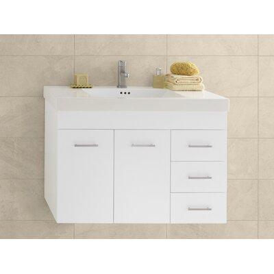 Bella 31.63 Single Bathroom Vanity Base Finish: White
