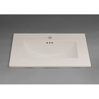 Kara 31 Single Bathroom Vanity Top Top Finish: Cool Gray, Faucet Mount: 8 Centers