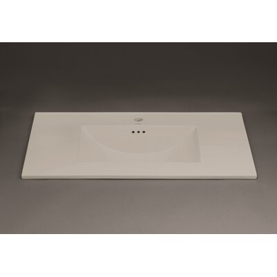 Kara 37 Single Bathroom Vanity Top Top Finish: Cool Gray, Faucet Mount: Single Hole
