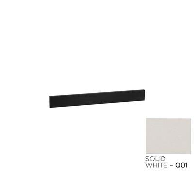 31 x 3 Stone Backsplash in Solid White