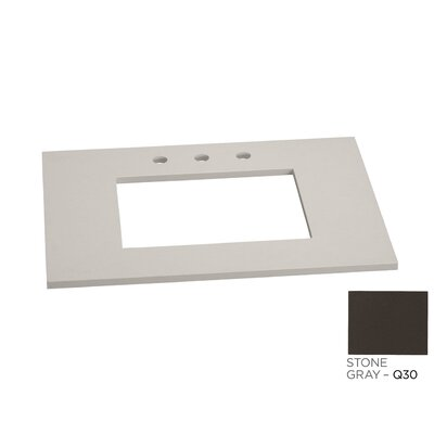 Single Undermount Sink 31 Single Bathroom Vanity Top Faucet Mount: 8 Widespread, Top Finish: Stone Gray