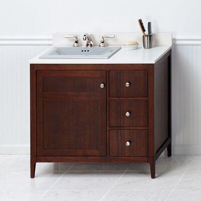 Briella 36 Single Bathroom Vanity Base Base Finish: White