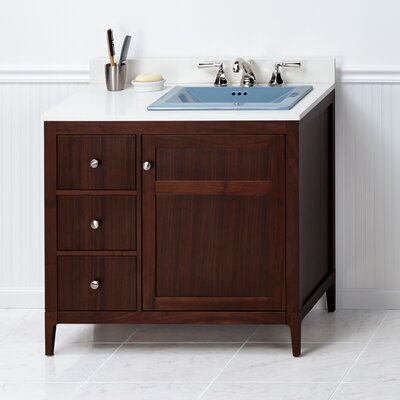 Briella 36 Bathroom Vanity Cabinet Base in American Walnut