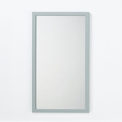 Solid Wood Framed Bathroom Mirror in Ocean Gray