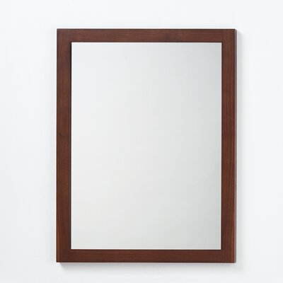 Contemporary Solid Wood Framed Bathroom Mirror in American Walnut