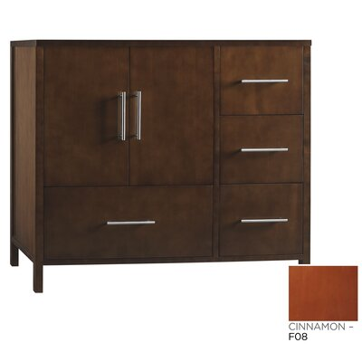 Contempo Juno Cinnamon Vanity Base w/ Three Hole Faucet Drillings and Left Side Door