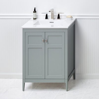 Briella 24 Bathroom Vanity Cabinet Base in Ocean Gray