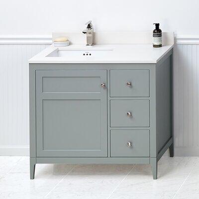 Briella 36 Bathroom Vanity Cabinet Base in Ocean Gray