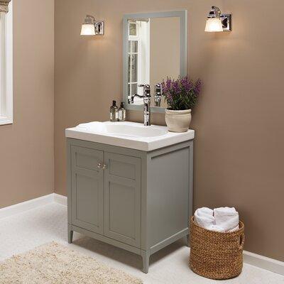 Briella 30 Single Bathroom Vanity Base Base Finish: Ocean Gray