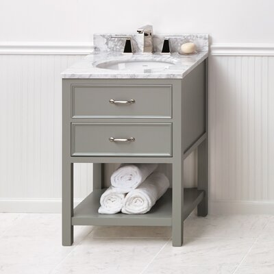 Newcastle 24 Single Bathroom Vanity Base Base Finish: Ocean Gray
