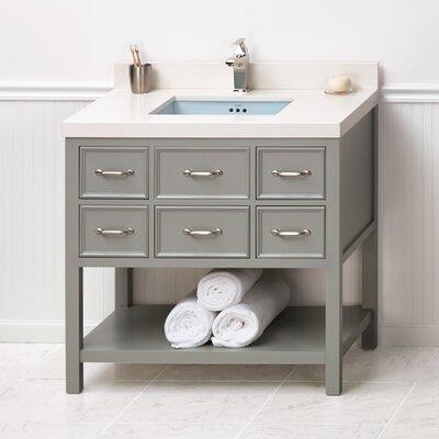 Newcastle 36 Bathroom Vanity Cabinet Base in Ocean Gray