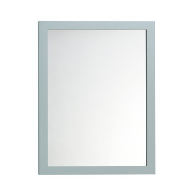Contemporary Solid Wood Framed Bathroom Mirror in Ocean Gray