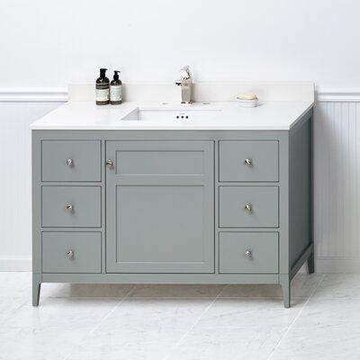 Briella 48 Bathroom Vanity Cabinet Base in Ocean Gray