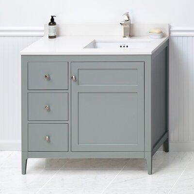 Briella 36 Bathroom Vanity Base in Ocean Gray
