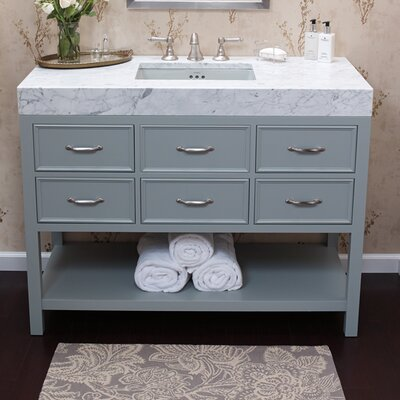 "Newcastle 48"" Bathroom Vanity Cabinet Base in Ocean Gray"