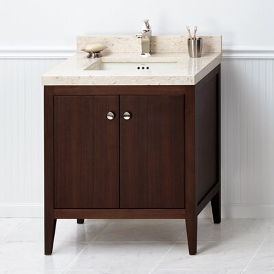 Sophie 30 Bathroom Vanity Cabinet Base in American Walnut
