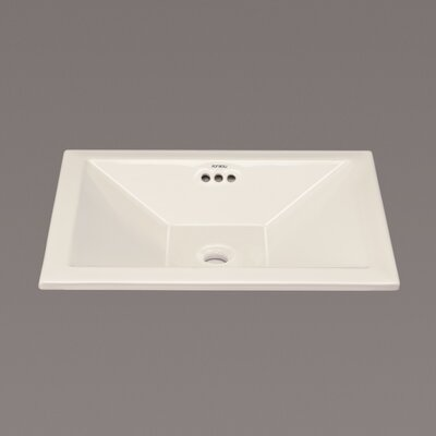 Ceramic Self Rimming Bathroom Sink
