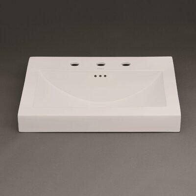 Evin Ceramic Sinktop Widespread Self Rimming Bathroom Sink 8