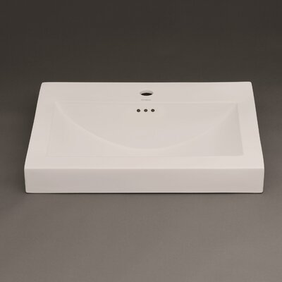 Evin Ceramic Sinktop Self Rimming Bathroom Sink