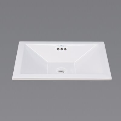 Monument Ceramic Rectangular Drop-In Bathroom Sink with Overflow Sink Finish: White