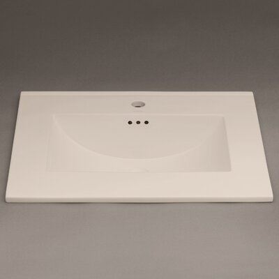 Kara 25 Single Bathroom Vanity Top Top Finish: Cool Gray, Faucet Mount: Single Hole