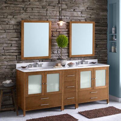 "Juno 30"" Bathroom Vanity Cabinet Base in Cinnamon"