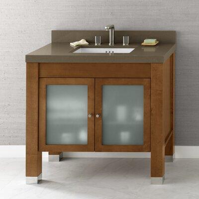 Devon 36 Bathroom Vanity Base Cabinet in Cinnamon