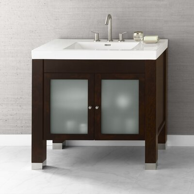 Devon 36 Bathroom Vanity Base Cabinet in Vintage Walnut