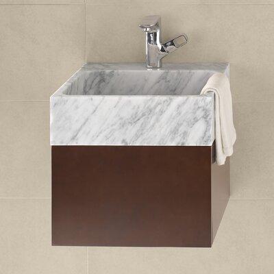 Morrison 18 Wall Mount Bathroom Vanity Base Cabinet in Dark Cherry