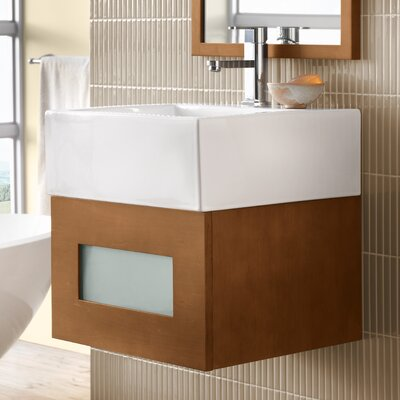 Rebecca 18 Single Bathroom Vanity Base Base Finish: Cinnamon