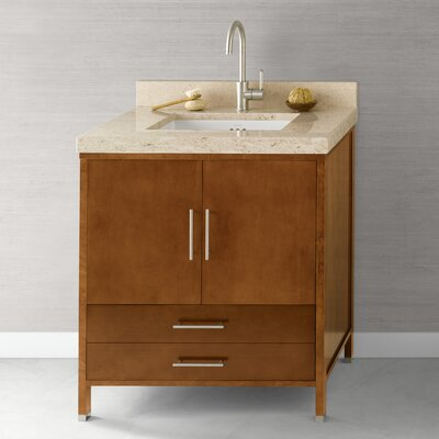 Juno 30 Bathroom Vanity Cabinet Base in Cinnamon