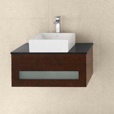 Morrison 31 Wall Mount Bathroom Vanity Base Cabinet in Dark Cherry