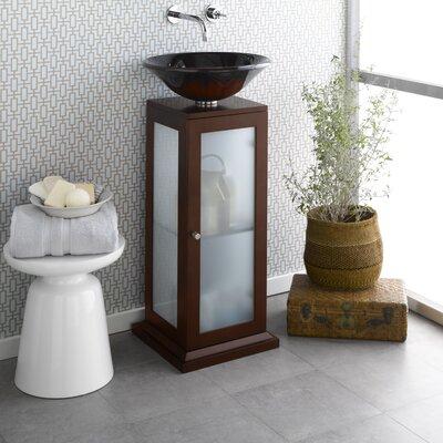 Hansen 15 Wood Vanity Pedestal w/Drain Hole in Dark Cherry